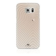 White Diamonds Heartbeat Case for Samsung Galaxy S6 - Retail Packaging - Rose Gold