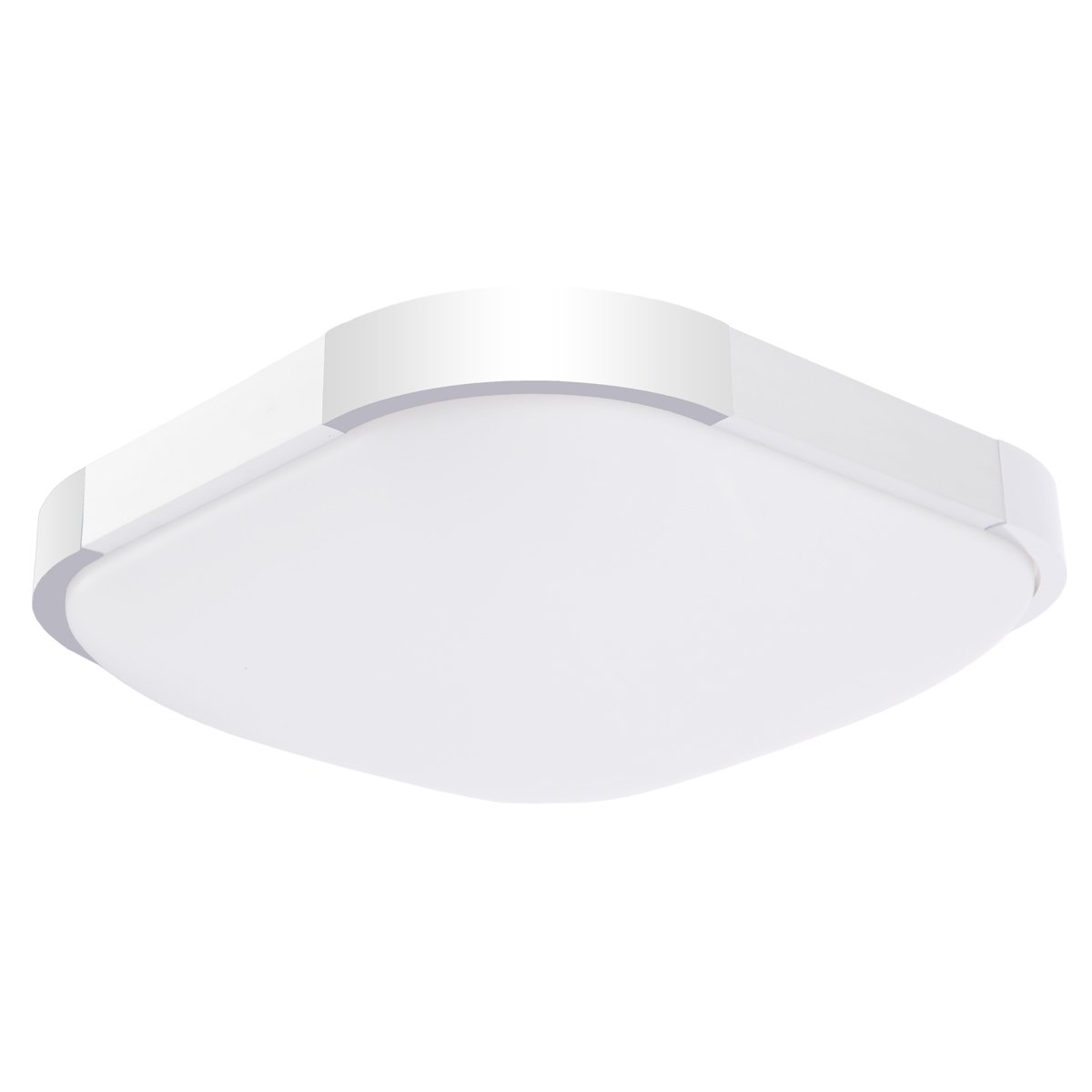 Drosbey 24W LED Flush Mount Ceiling Light, 12in, 240W Incandescent Bulbs Equivalent, 3000 Lumens, 5000K Daylight White, Round Lighting Fixture for Kitchen, Hallway, Bathroom, Bedroom