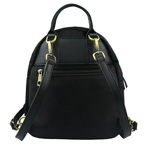 Bag Waterproof Backpack Travel Mini Casual Shoulders Nylon Daypack for Backpack Betiteto Black Women for Small Girls z7dI1qAd