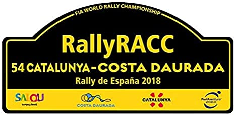 Pegatina Placa Fia WRC Rallye ESPAÑA 2018 PR54: Amazon.es: Deportes y aire libre