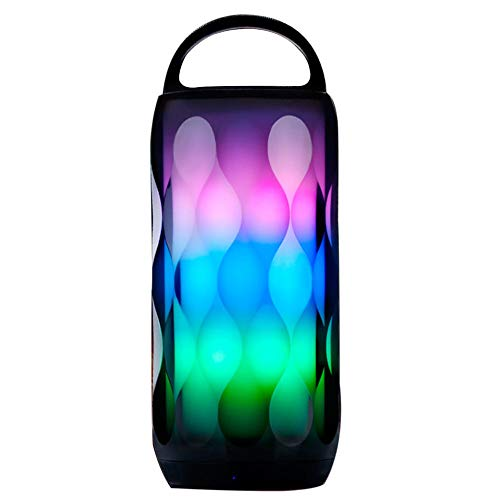 Bluetooth Speakers Portable LED Light Wireless Bluetooth Speaker 6 Color LED Themes,Built-in-Mic,Handsfree Call,AUX Line,TF Card,HD Sound and Bass for iPhone iPad Android Smartphone and More