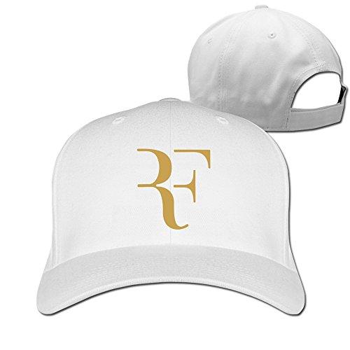 YONLY Roger Federer Logo Baseball Cap White