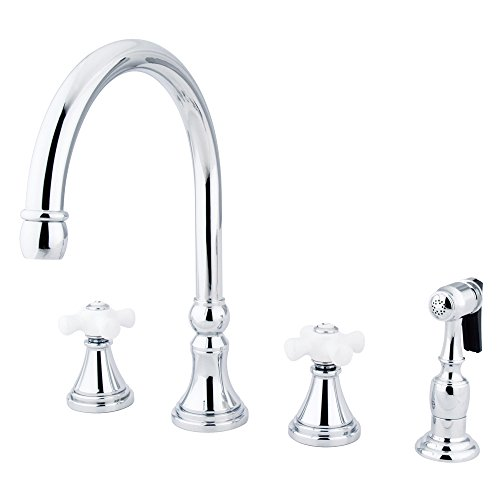 1PXBS Governor Deck Mount Kitchen Faucet with Brass Sprayer, 8-1/4-Inch, Polished Chrome ()