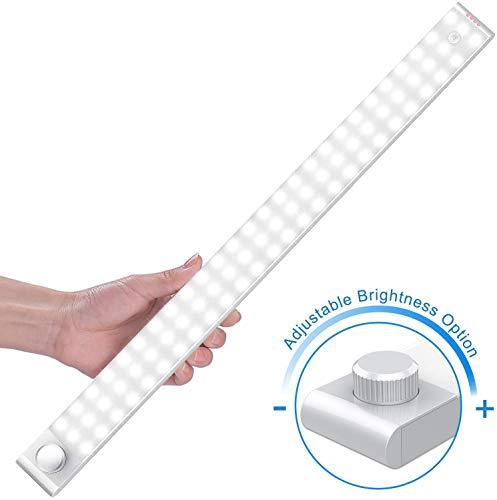Racokky Luz Nocturna, Mejorar 78 LEDs Led Armario con Sensor de Movimiento Recargable 4 Modos con Cinta Adhesiva…