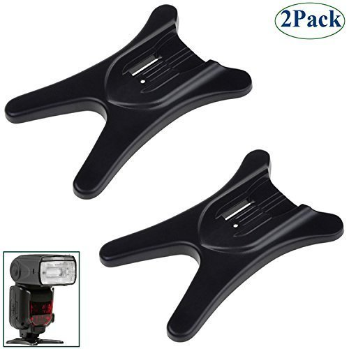 RAYSUN 2 Packs Camera Hot Shoe Flash Stand with 1/4