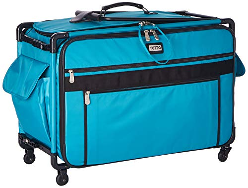 Tutto Monster Machine on Wheels Sewing Machine Case, 2XL Turquoise ()
