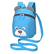 Kid Toddler Safety Harness Anti lost Bear Backpack With Leash Bear for Boy Girl (Light blue)