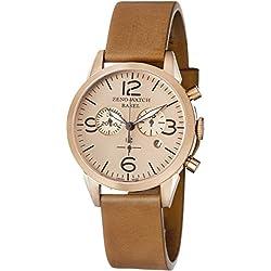 Zeno Men's 4773Q-PRG-A6-1 Vintage Line Analog Display Swiss Quartz Brown Watch