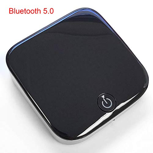 eFamily | Low Latency 3.5mm Bluetooth 5.0 Adapter | Wireless Transmitter Receiver | Long Range | Compact Mini Portable | Audio for TV, PC, Stereos, Car, Auto, Speakers & Headphones