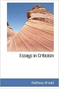 essays in criticism arnold