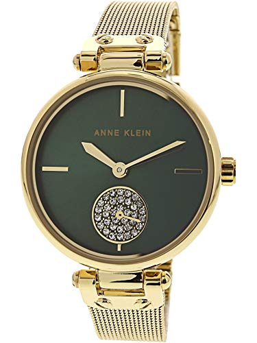 Gold Color Links Watch Crystal (Anne Klein Women's Quartz Metal and Stainless Steel Dress Watch, Color:Gold-Toned)