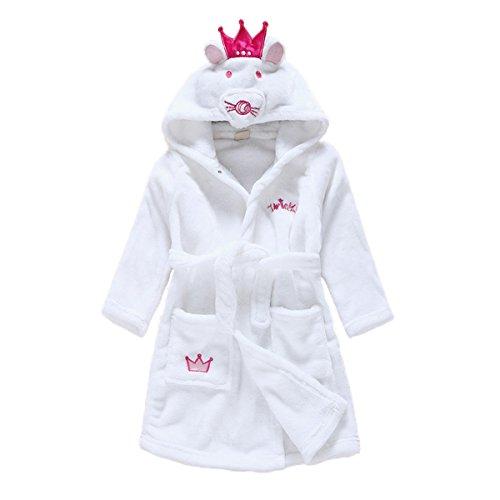 Toddler Baby Boys Girls Cartoon Bathrobe Flannel Robe Winter Night-Robe