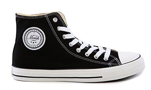 Schwarz Turnschuh Top High Stoffschuh 64 Sneaker Unisex Modell Weiß Merish 18pqx