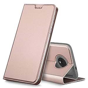 Motorola MOTO G6 PLUS Case, Premium Flip Case Cover for Motorola MOTO G6 PLUS, Rose Gold