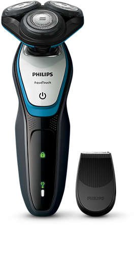 Philips S5070 AquaTouch Wet and Dry Electric Shaver ComfortCut Blade System With SmartClick precision trimmer by PHILIPS