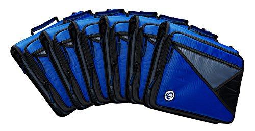 Case-it Universal 2-Inch 3-Ring Zipper Binder, Holds 13 Inch Laptop, Blue, Case of 6 (LT-007-C-BLU) by Case-It