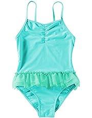 Trajes de baño Lindo Bebés y niños pequeños de los bebés de baño de una Pieza Trajes de baño Traje de baño de la Playa para Las niñas Niños (Color : Green, Size : XL)