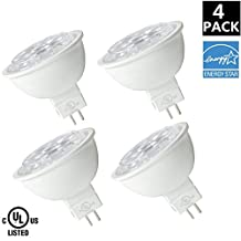 MR16 LED Light Bulbs, WestDeer 6.5W (50W Halogen Bulbs Equivalent), 2700K Warm White 500lm, 30° Beam Angle, Non-dimmable, 4-Pack