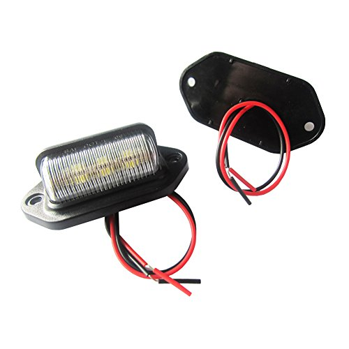 Led Trailer Lamps (Paision One Pair 12v Truck Trailer Rv Aircraft LED License Plate Tag Light or Convenience Courtesy Door Step)