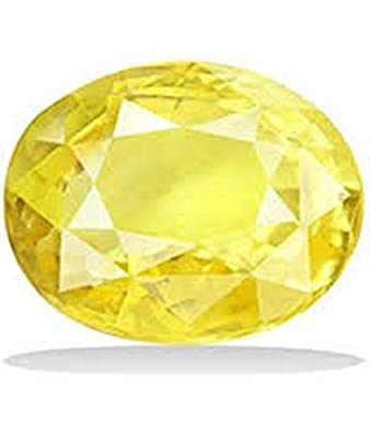 21218b2f3a Buy 5.25 Ratti 100% Original Yellow Sapphire(Pukhraj) By Lab Certified  Gemstone Online at Low Prices in India | Amazon Jewellery Store - Amazon.in