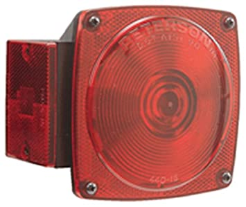 Peterson E440 15 Red Tail Light Replacement Lens