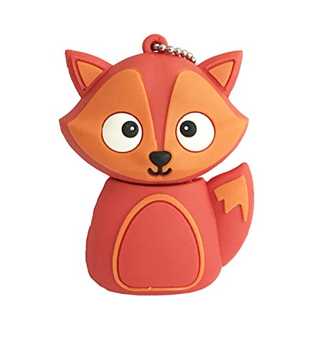 Novelty Cute Animal Fox Shaped USB Flash Drives Memory pendrive 32GB (RED)