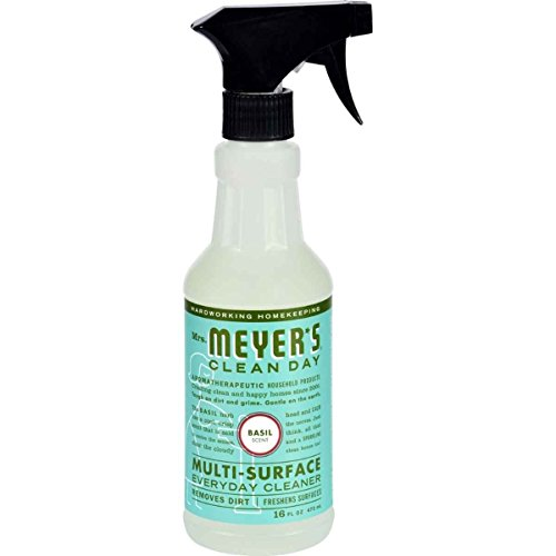 Mrs Meyers Clean Day Multi-Surface Everyday Cleaner, Basil 16 oz (Pack of 6) by Mrs. Meyer's Clean Day