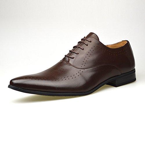 Talla Negro Eu Hombre Cordones Piel Eu Sintética Marrón Zapatos Classydude Para 40 Color De q7SZ6
