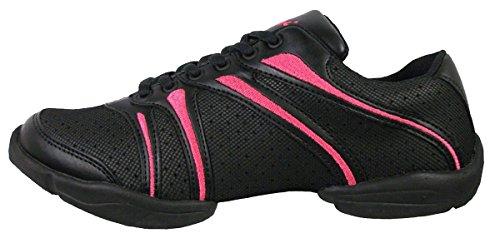 Capezio Dansneaker Schuh schwarz Bolt Fit Med rosa zOqwzvH