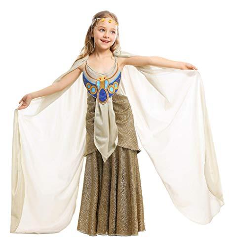 HICOSER Kids Girls Halloween Aladdin Princess Arabian Exotic Fancy Dress Egypt Golden Costume -