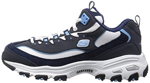 Trainers Skechers Time white light Womens D'lites blue Me Navy wUxIrqSUF
