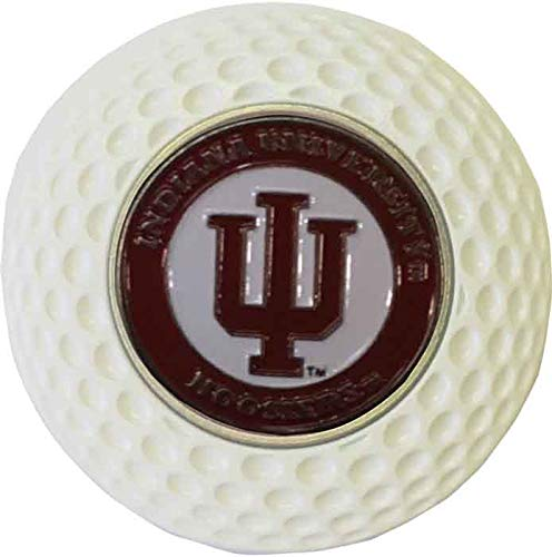 Indiana Metal Hoosiers (Indiana University Hoosiers Golf Metal Poker CHIP W/Marker White Gift IDEA NCAA)