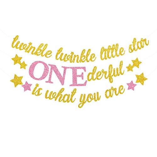 Yaaaaasss! Twinkle Twinkle Little Star Banner Girl 1st Birthday Party -