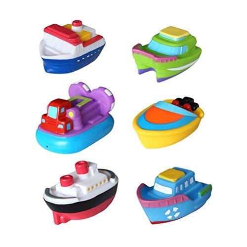 TOYMYTOY Bateau Jouets de bain enfants Jouer Piscine d'eau Tub Jouet 6pcs
