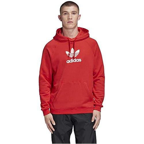chollos oferta descuentos barato adidas Adiclr PRM Sudadera con Capucha Hombre Rojo Lush Red M