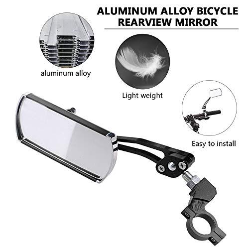 ARFUTE V/élo V/élo V/élo Arri/ère R/étroviseur Guidon Montage 360 /° Rotation en Aluminium R/étroviseur De S/écurit/é pour V/élo Moto Noir