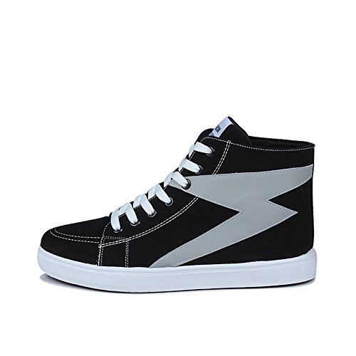 para Hombre Deporte 2018 de Las Casuales Hip Zapatillas shoes en la Deporte de Zapatillas Alta Color Bump Hombres de de de Shufang Zapatillas y Moda Hop And Gray Gama de los Son Hop Top Black qxfwI