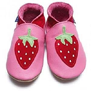 Strawberry Delight Leather Handmade Shoes
