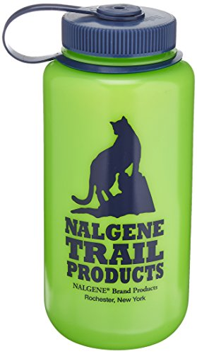Nalgene HDPE Wide Mouth Water Bottle (Green, 1-Quart)