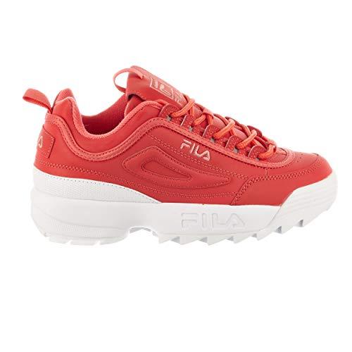 Fila Women's Disruptor II Spring Pack Sneaker (8 M US, Pink Glow/Pink Glow/White)