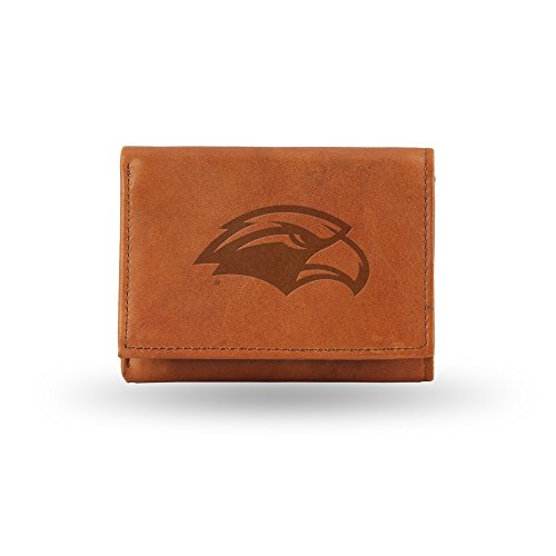 NCAA Southern Mississippi Golden Eagles Embossed Genuine Leather Trifold Wallet