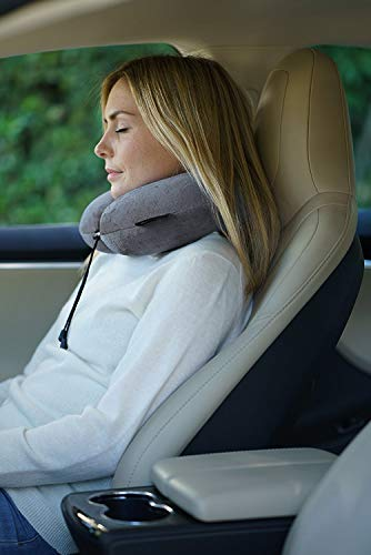 Travelrest - Therapeutic Memory Foam Travel & Neck Pillow - Washable Micro-Fiber Cover - Attaches to Luggage -- Molds Perfectly To Your Neck And Head (2-Year Warranty) by Travelrest (Image #6)