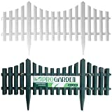 Greenhurst Von Vier Kunststoff Zaun Paneele In Bronze Amazon De Garten