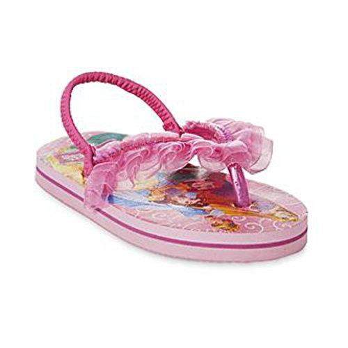 Disney Toddler Girls Disney Princesses Flip Flops 5/6 M US Pink