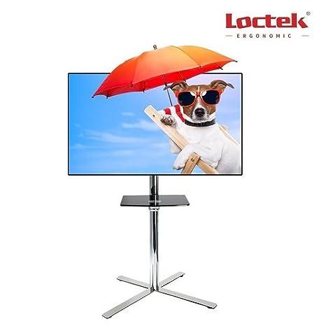 Loctek - Soporte universal con ruedas carrito de TV LCD Monitor Soporte w/DVD de plástico estante: Amazon.es: Juguetes y juegos