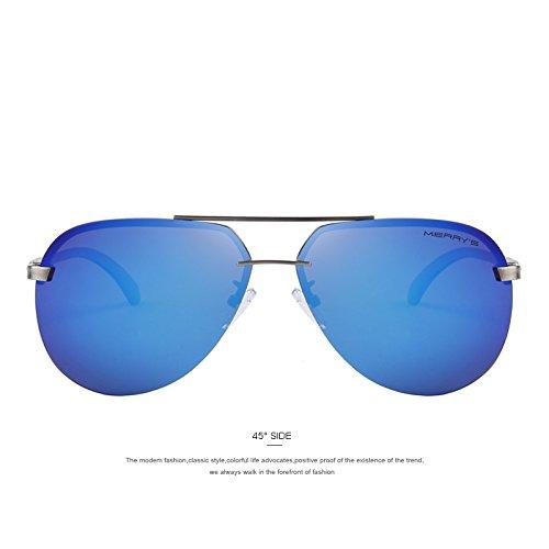 de TIANLIANG04 100 de Gafas para sol a gafas Caballeros polarizadas de hombres aleación de aluminio C03 Gold los sol Moda C05 Blue guiar de Marco la 0rx0fq5