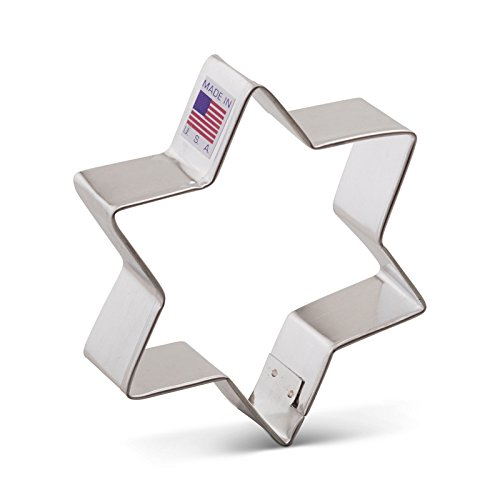 Ann Clark Star of David Cookie Cutter - 3.75 Inches - Tin Plated Steel (Hanukkah Cookie Cutters)