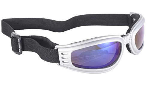 Pacific Coast Nomad Value Folding Riding Goggles (Silver Frame/Blue Mirror - Sunglasses Coast