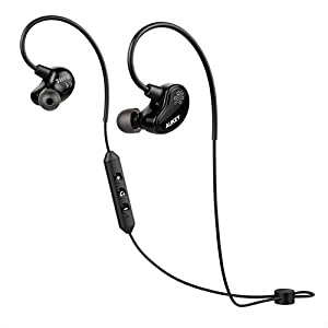 AUKEY Loops Bluetooth Headphones, Wireless Sport Earbuds with Built-in Microphone and Remote for Running, Workout, Gym