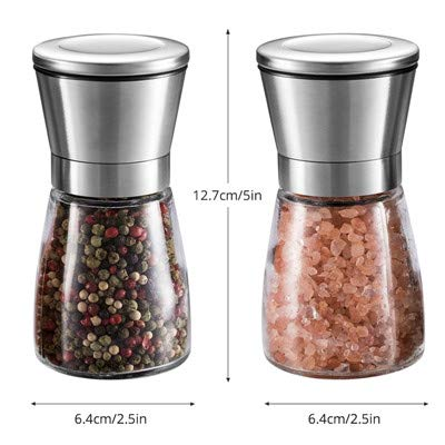 Herb & Spice Tools   1Pcs Salt And Pepper Grinders Herb & Spice Mill Tools With Adjustable Ceramic Stainless Steel Spice Shakers For Cooking   By ATUTI by ATUTI